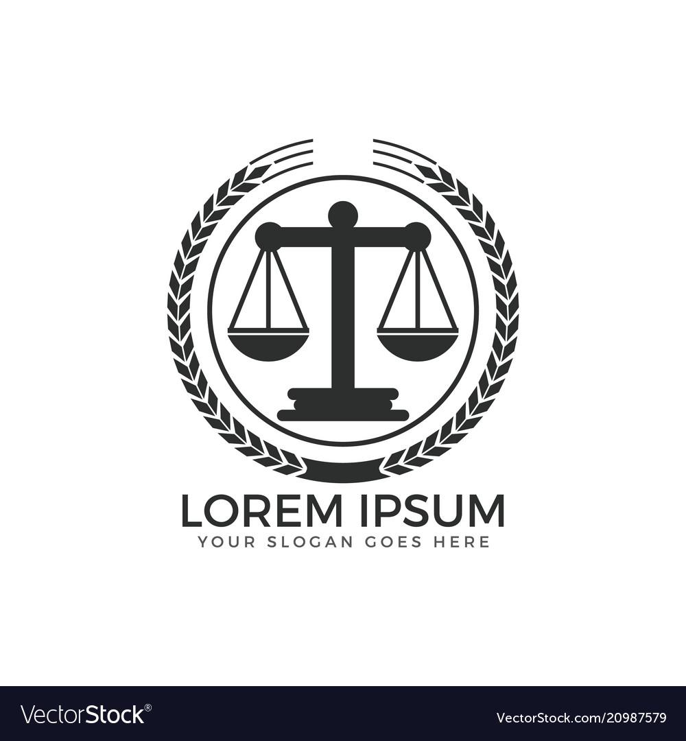 Scale justice logo design