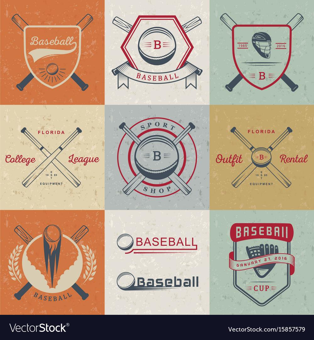 Set of logo and badges baseball