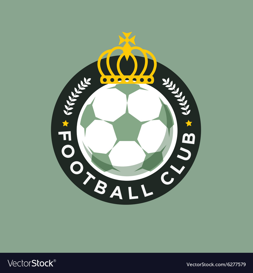 Vintage color football soccer championship logo