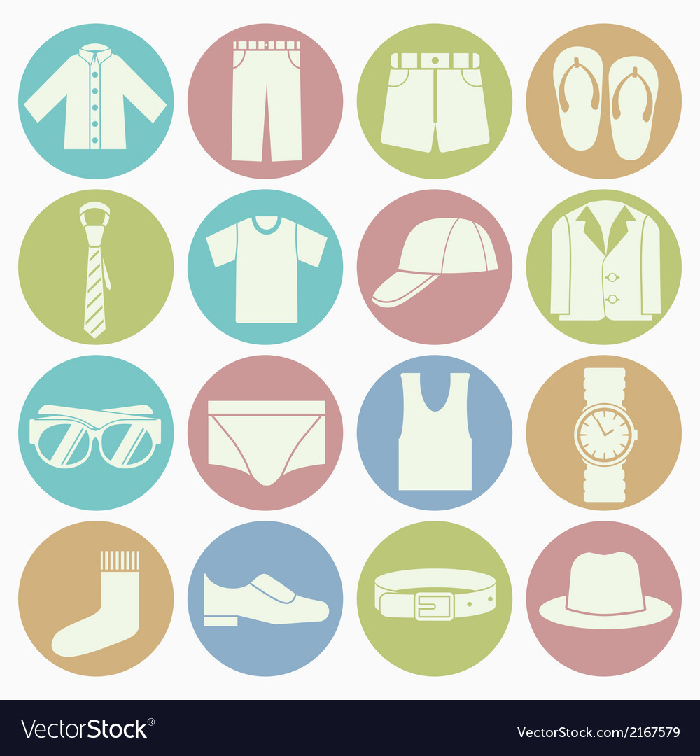 White icons gent clothes
