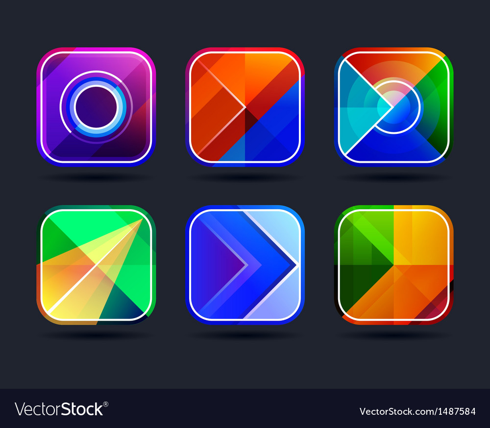 Abstract App Icons Frames Royalty Free Vector Image