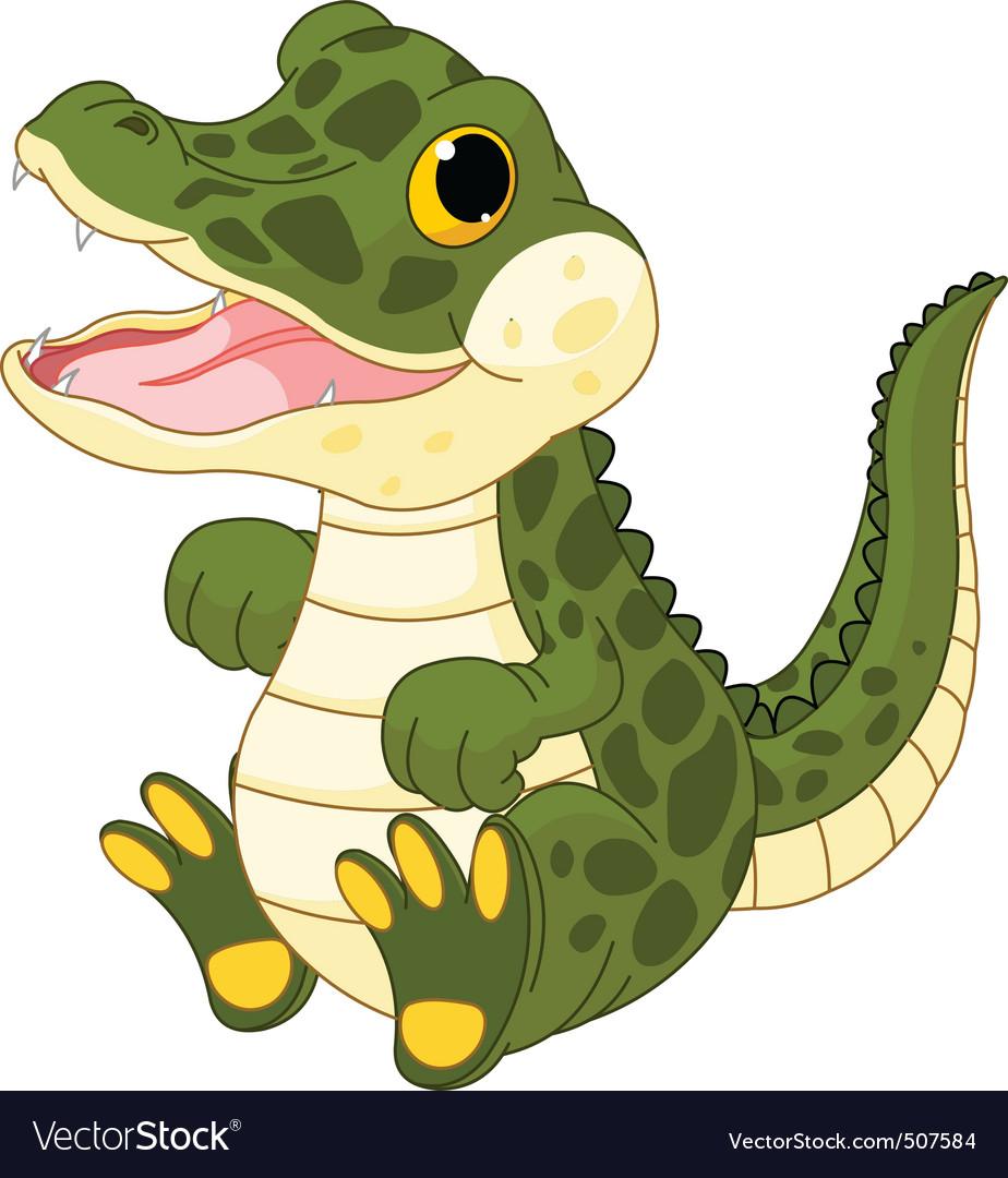 baby crocodile royalty free vector image vectorstock