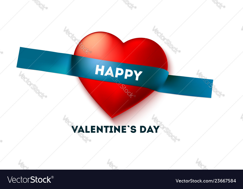 Happy valentine s day holiday header on sticky