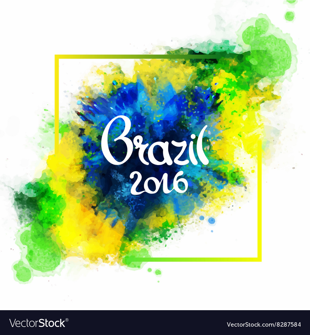 Inscription Brazil 2016 on background