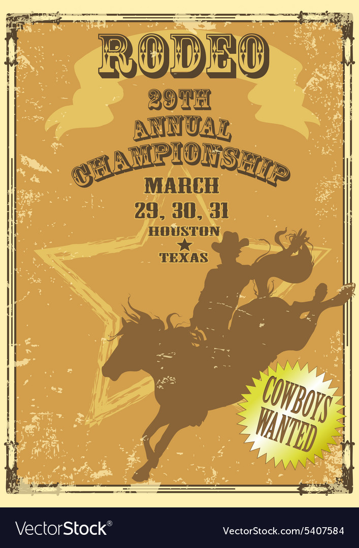 Rodeo Poster with sample text