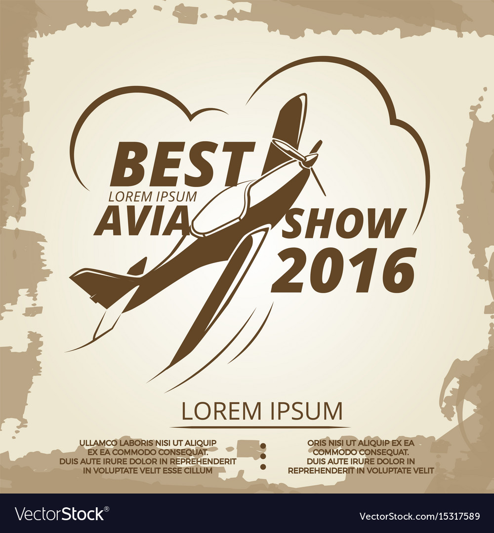 Air show poster vector image