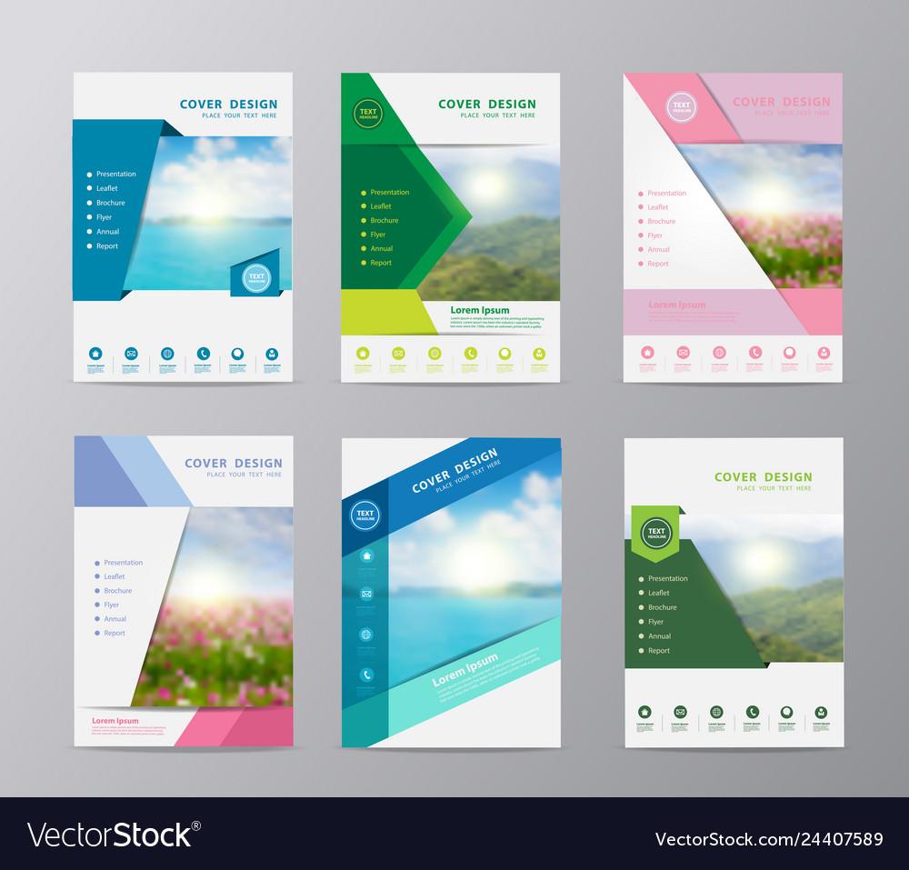 Annual report brochure flyer design template set