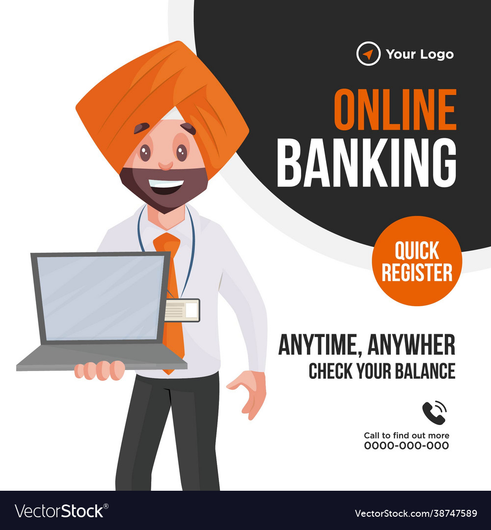 Banner design online banking