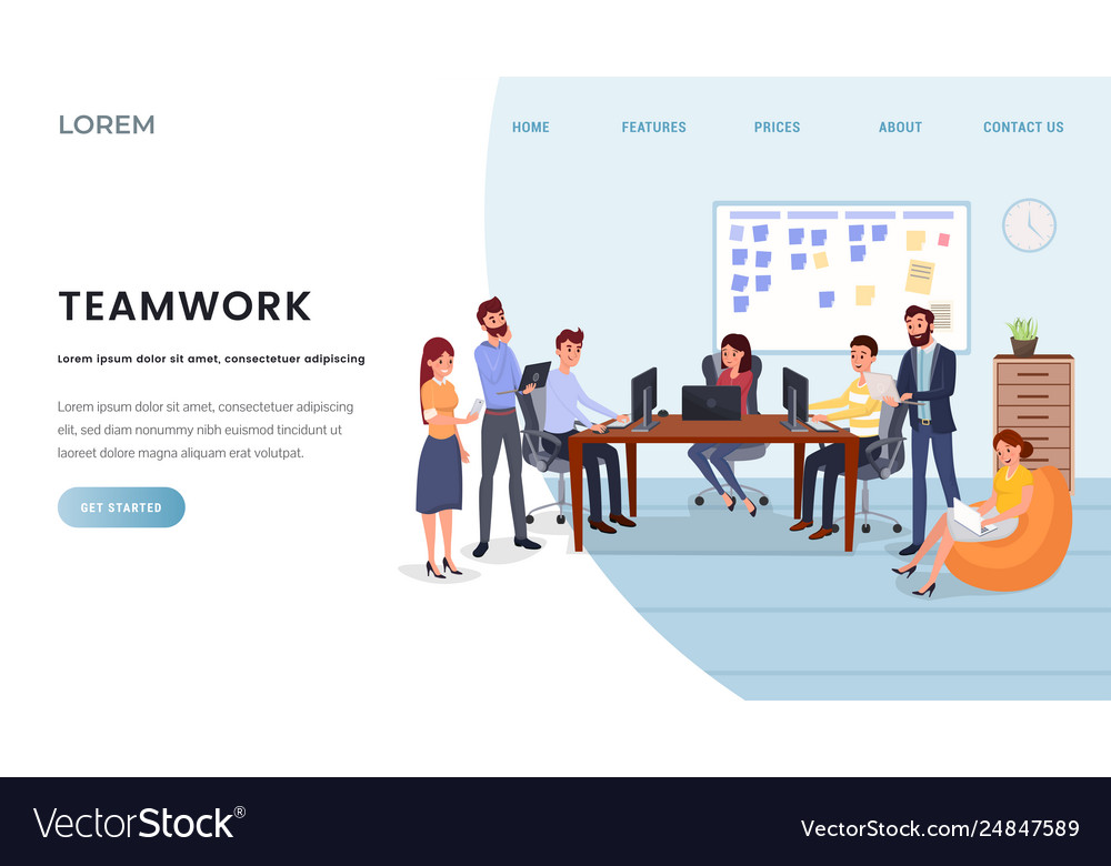 Business Company Landing Page Template