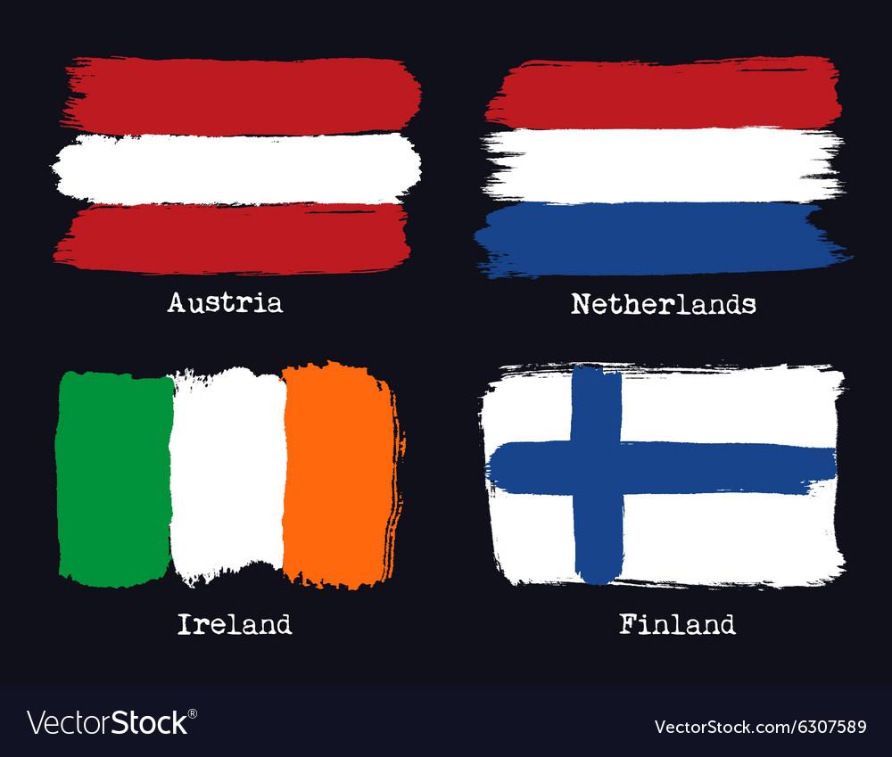European grunge flags Flags of Austria Netherland