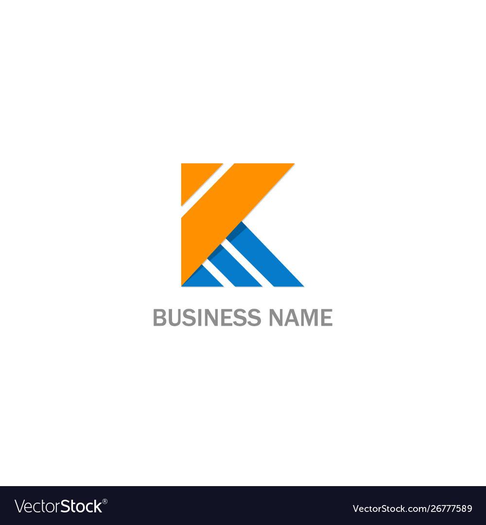 K initial abstract company logo