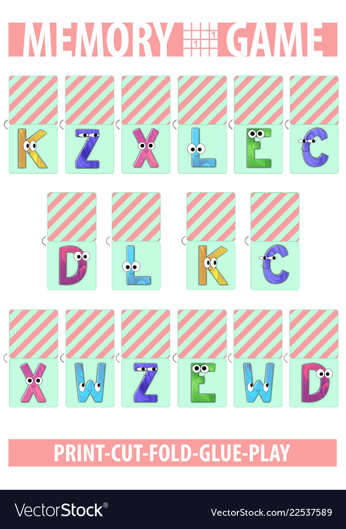 picture about Printable Memory Cards referred to as Memory card match letters alphabet printable a4