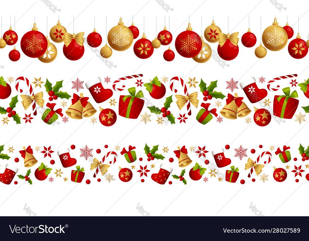 Merry christmas seamless border decoration