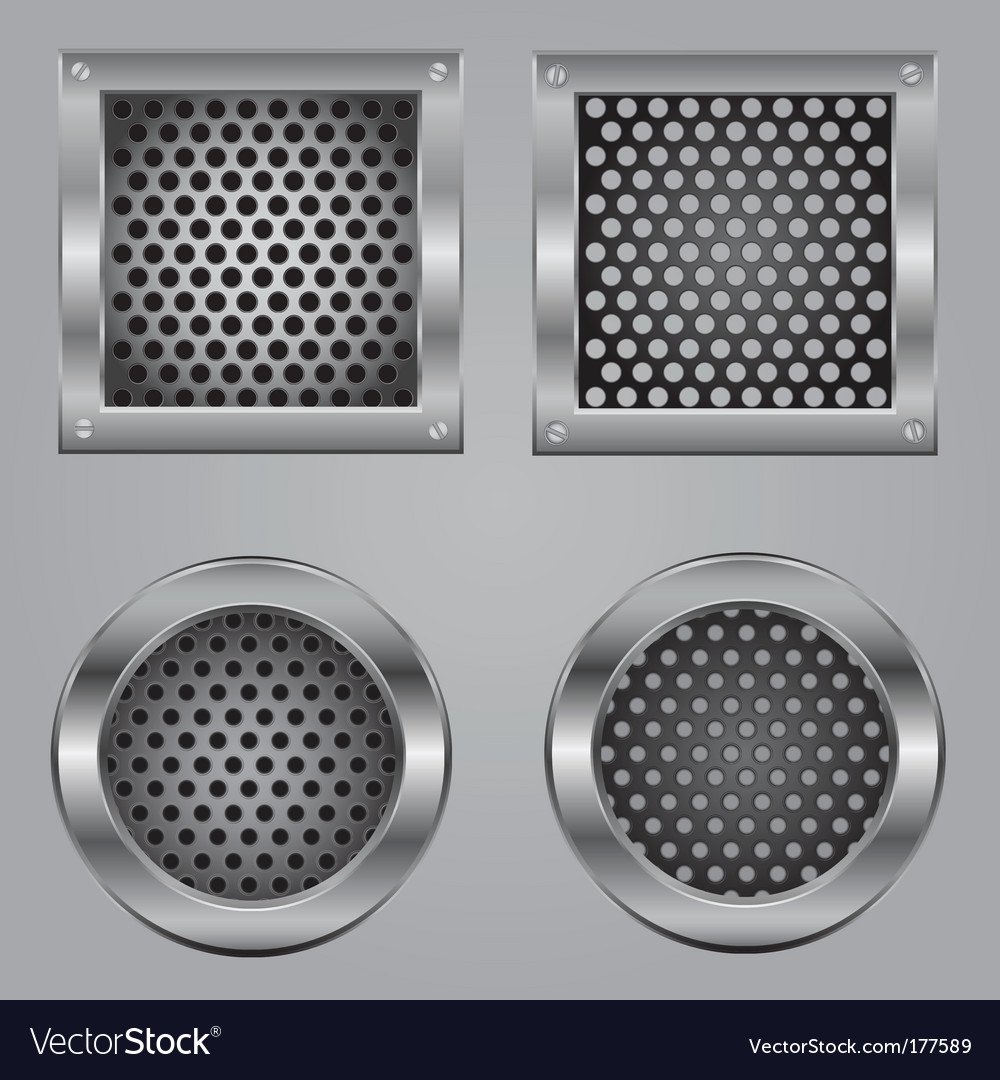 Metal squares vector image
