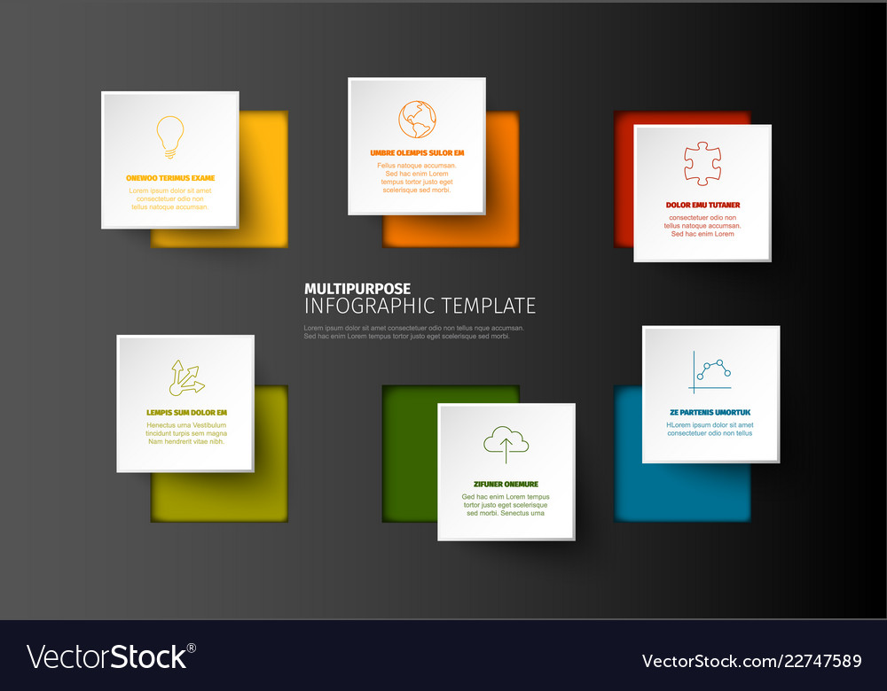 Minimalist colorful infographic template
