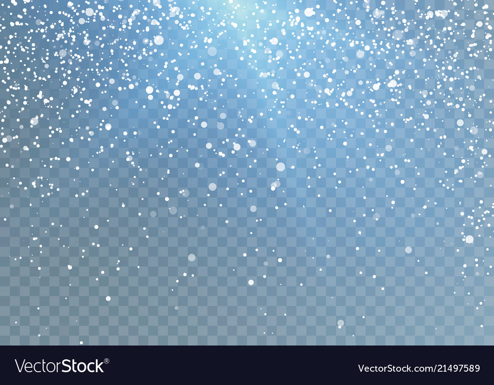 Snowfall pattern with blue shine falling