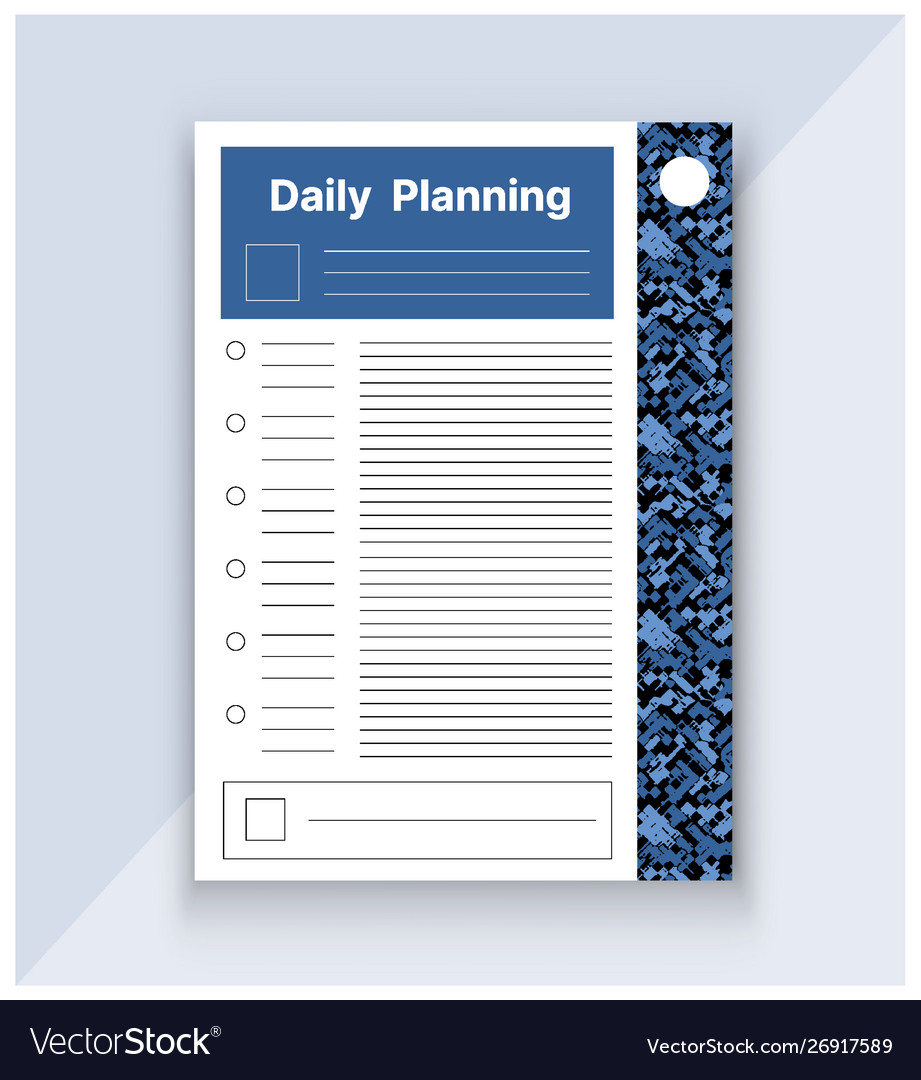 Template daily plan