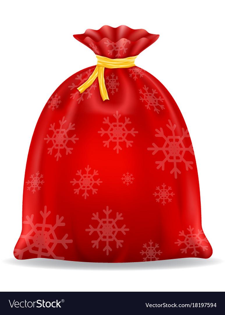 Christmas santa claus bag stock vector image