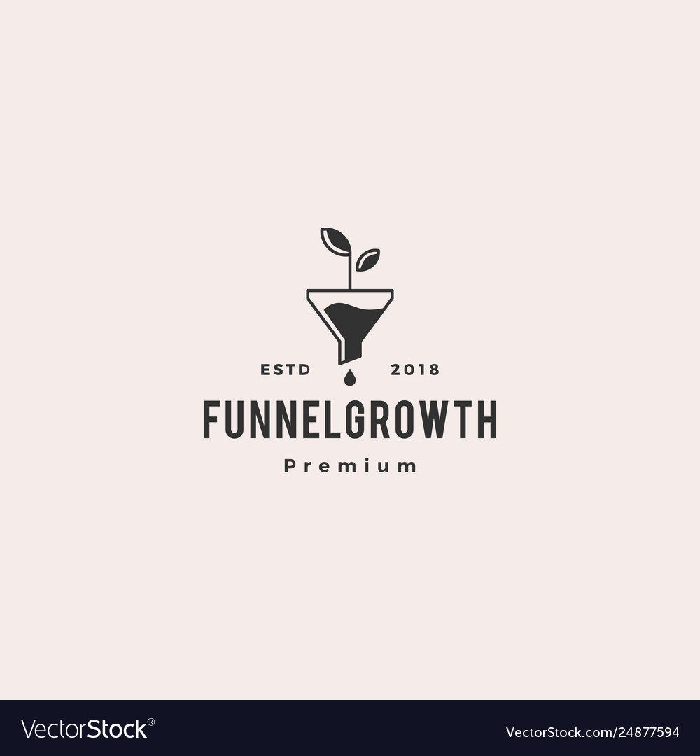 Funneling growth leaf organic logo icon