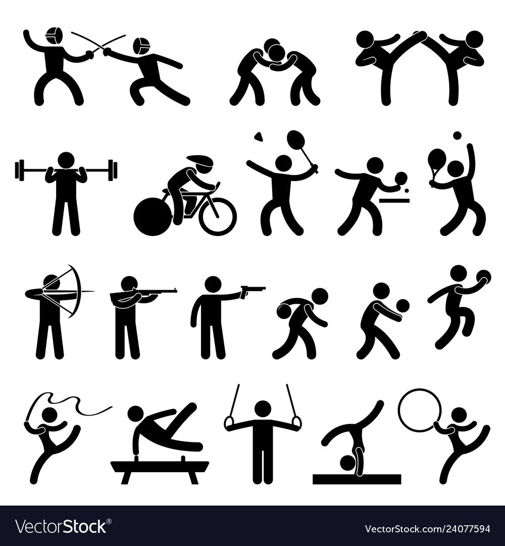 Indoor sport game athletic set icon symbol sign