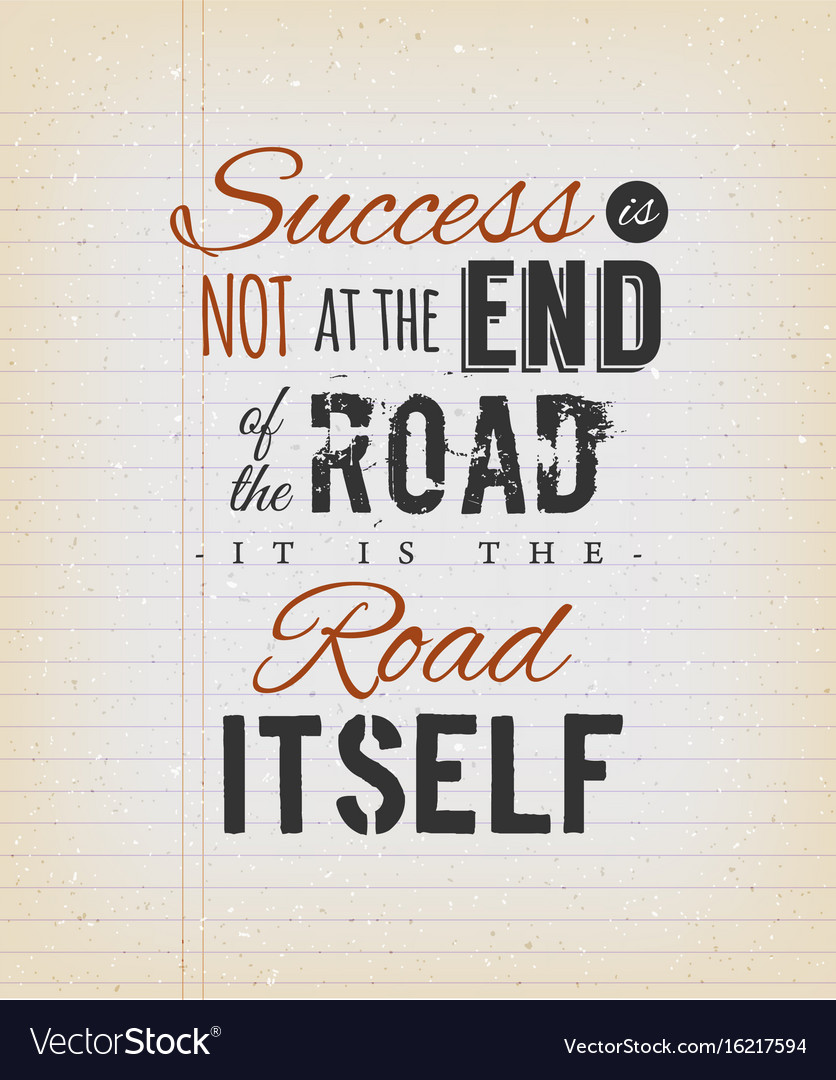 Inspirational Quote About Success On Vintage Vector Image