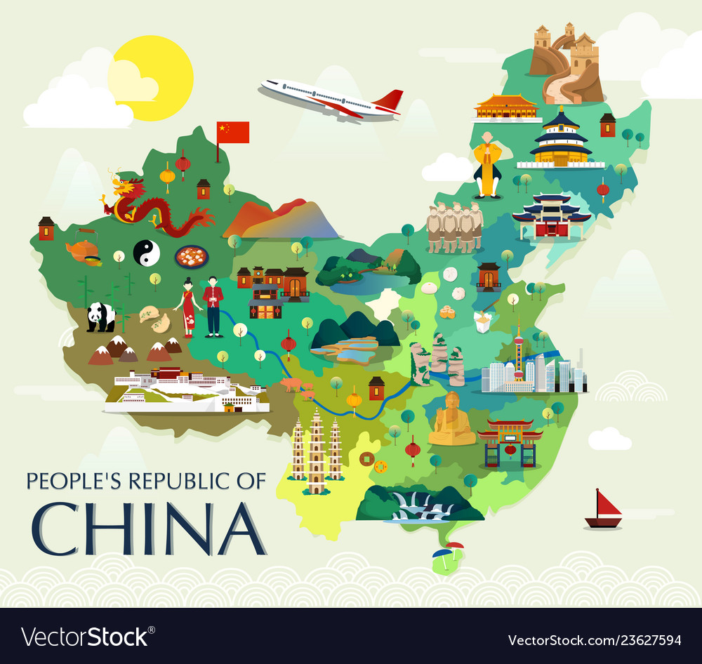 Map of china attractions and