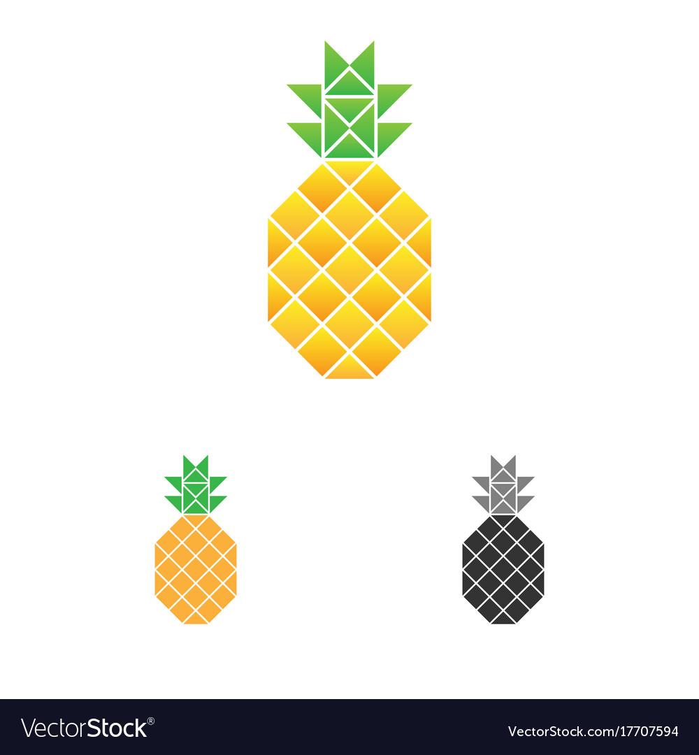Pineapple logo template fruit logotype