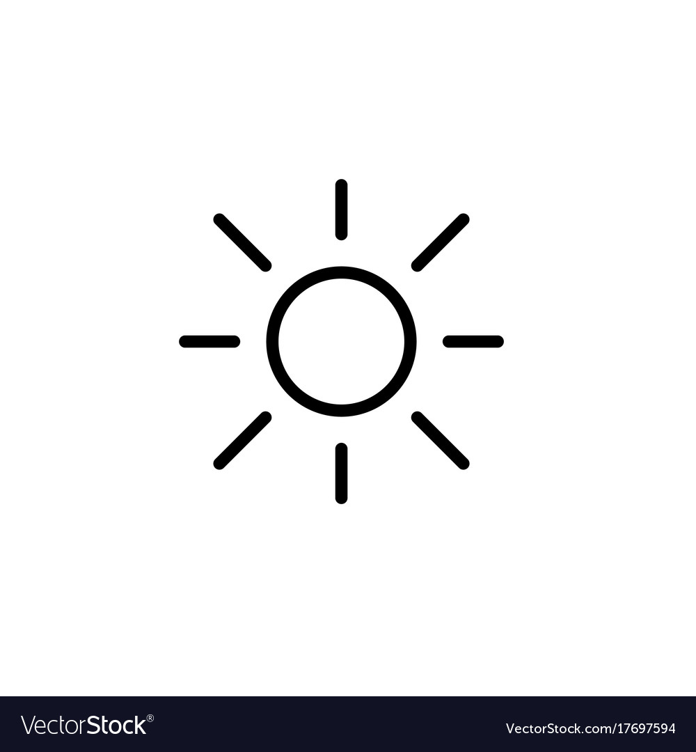 Sun light brightness line black icon