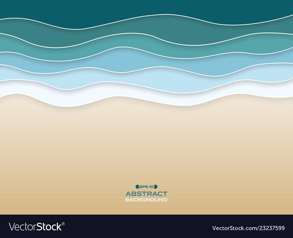 Abstract of coast sea wavy blue water color