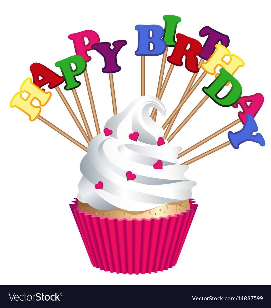 Awe Inspiring Cake Bakery Products Happy Birthday Royalty Free Vector Funny Birthday Cards Online Kookostrdamsfinfo