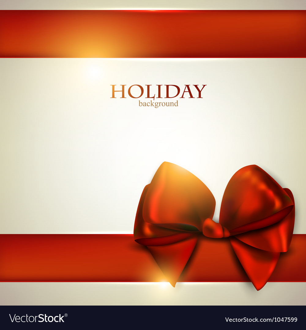 christmas bow card template royalty free vector image