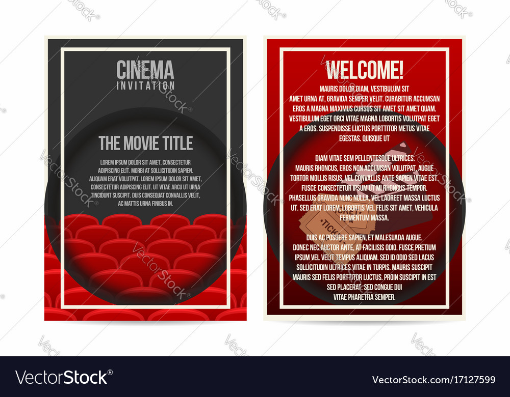Cinema poster invitation flyer template a4 size vector image stopboris Image collections