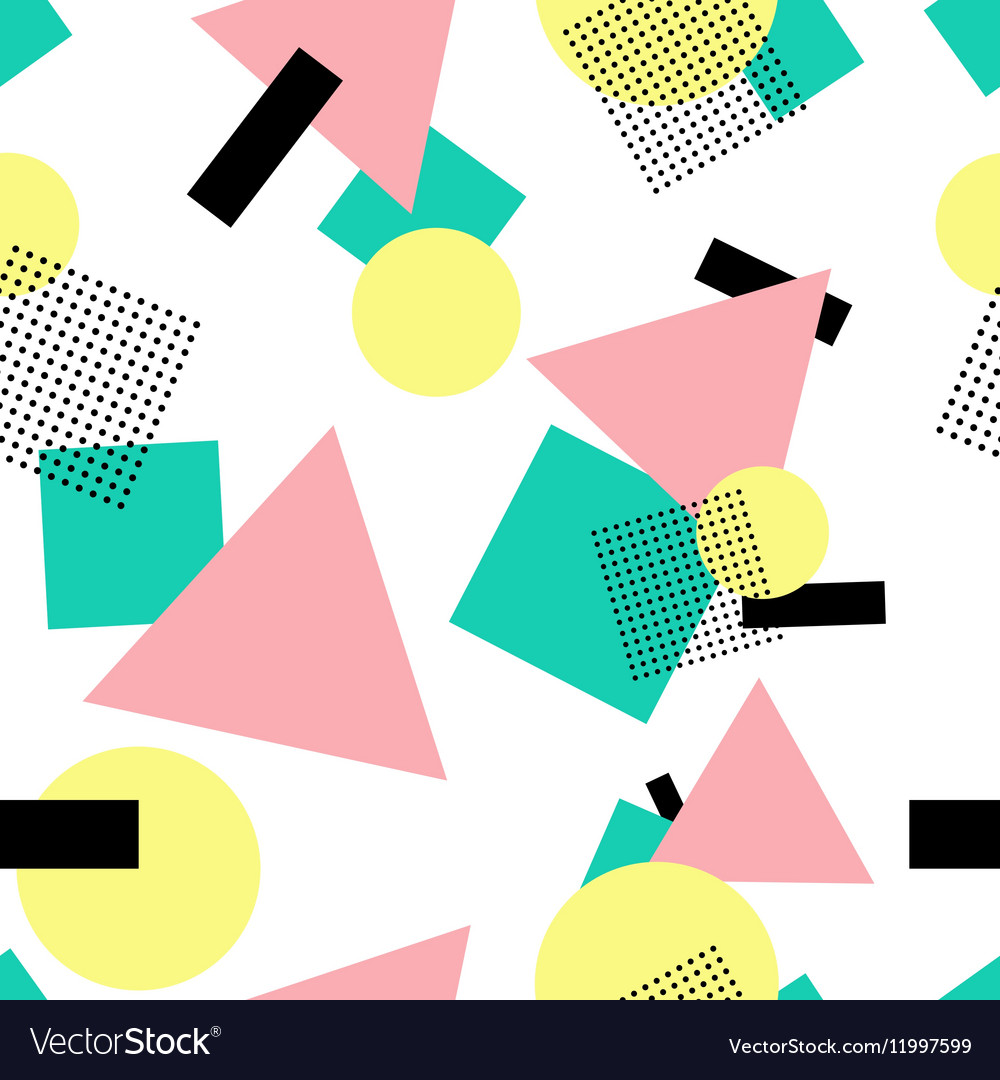 Geometric 80s fashion style seamless pattern