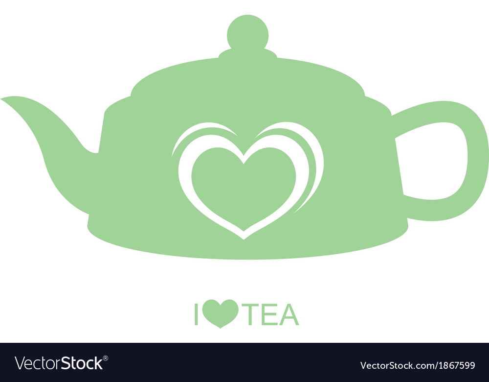 Teapot with heart