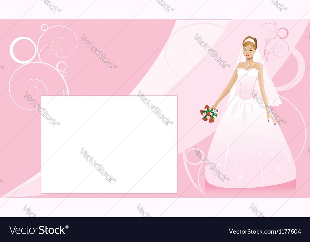 Bride and wedding background vector image