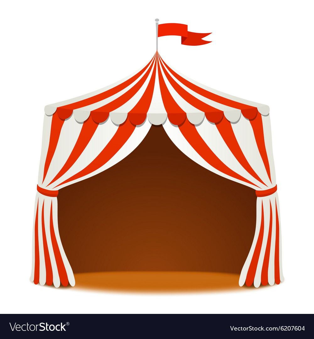 Circus tent on white background