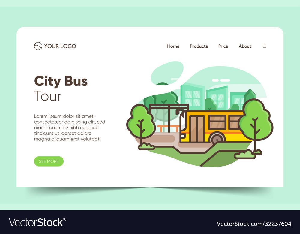 City public transport service website premium