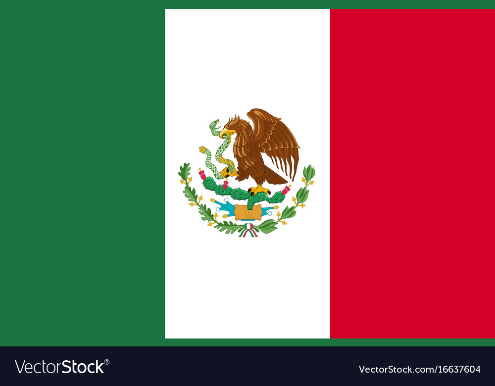 flag mexico flat icon royalty free vector image rh vectorstock com mexico flag vector free download new mexico flag vector