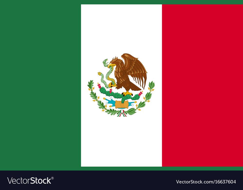 flag mexico flat icon royalty free vector image rh vectorstock com mexican flag vector art mexican flag vector art