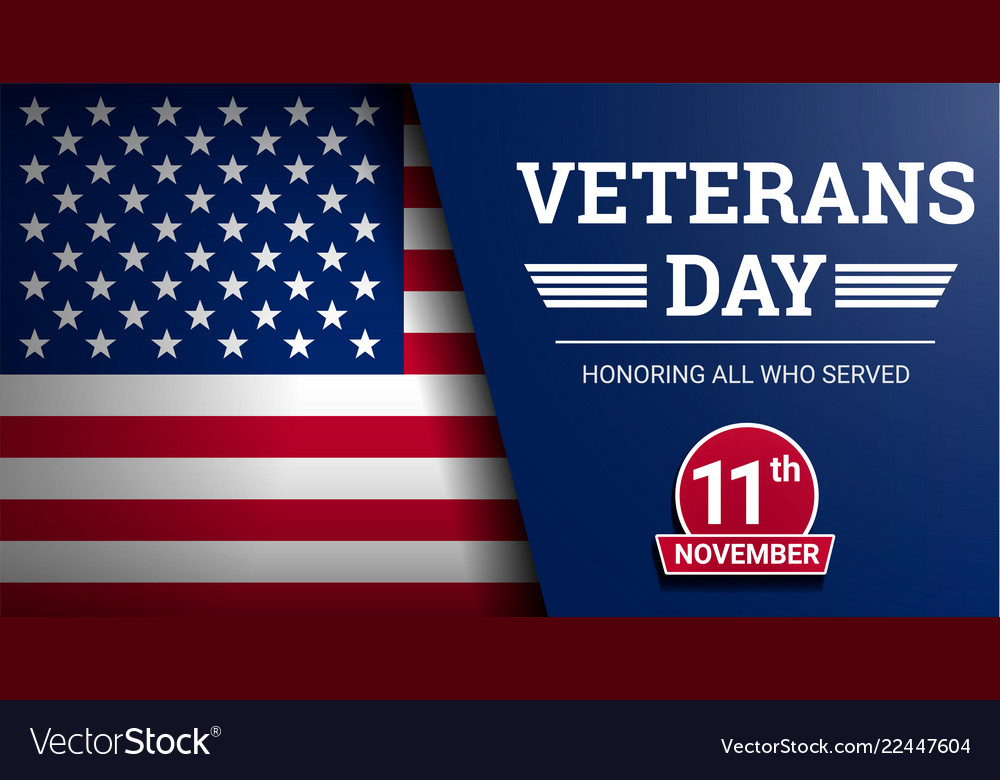 Happy veterans day concept background realistic