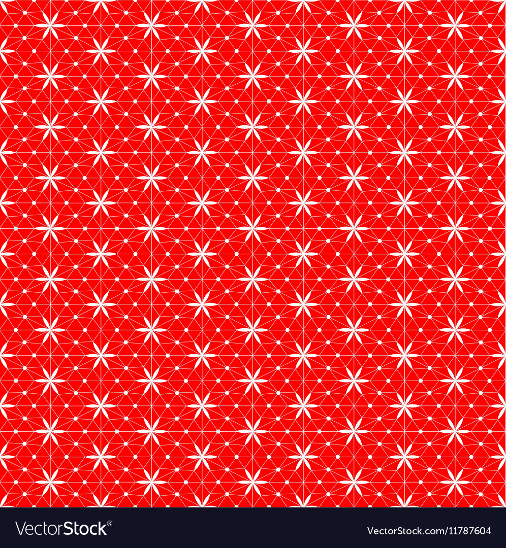 Net lace with snowflakes vector image