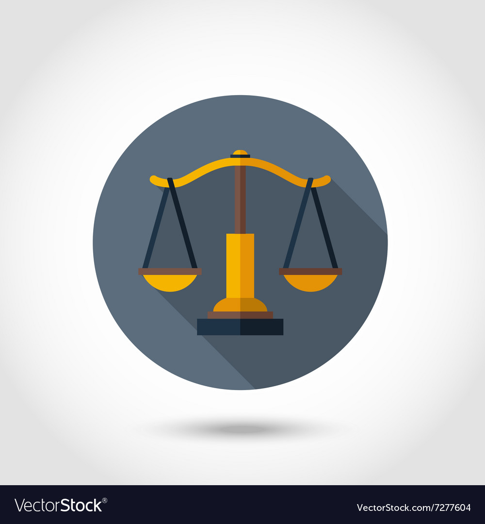 Scales flat icon vector image