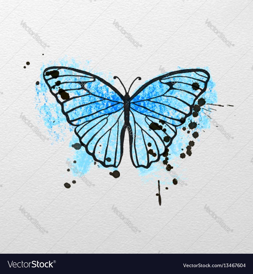 Stylized blue butterfly