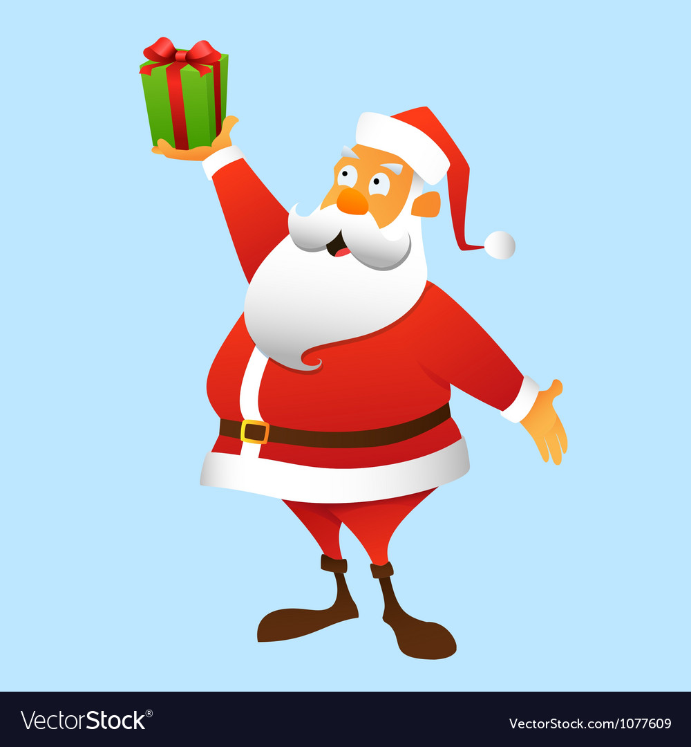 A present from Santa Claus vector image