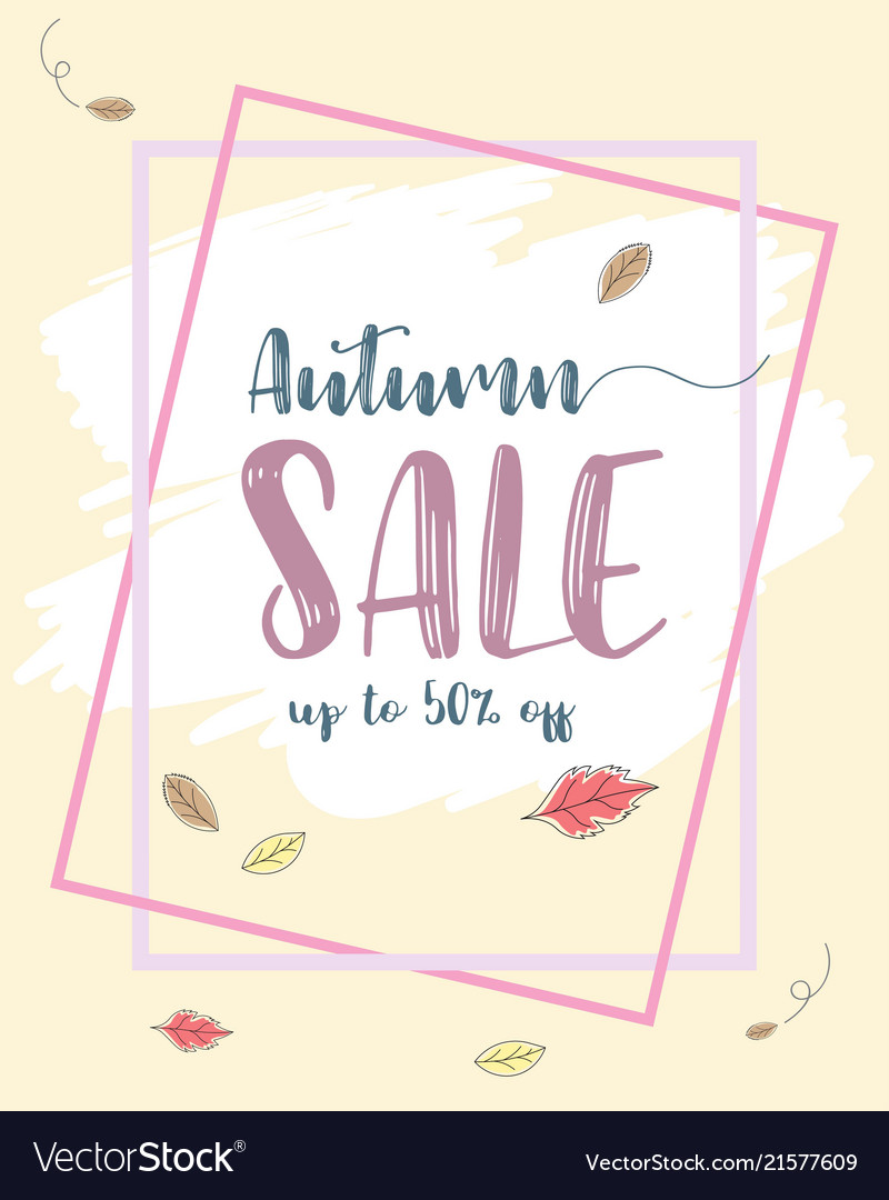 Autumn sale flyer template at discount up to 50