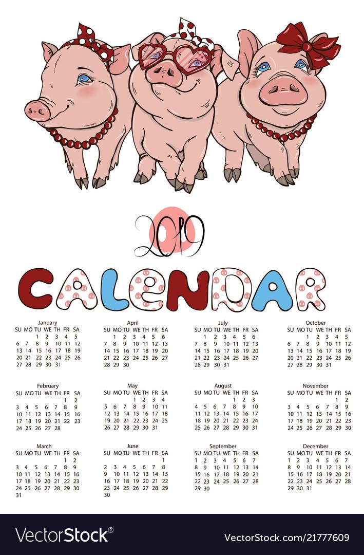 Calendar Pigs