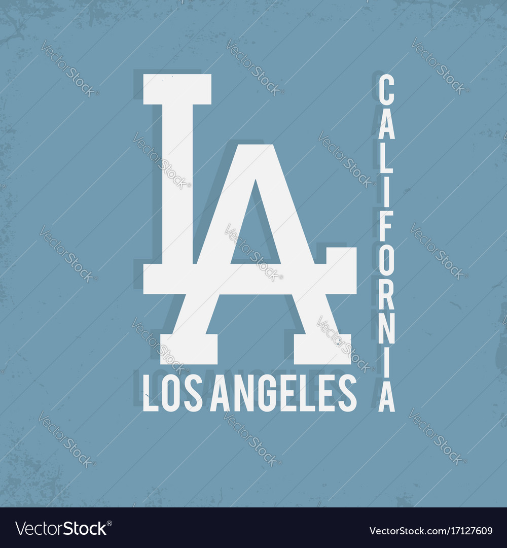 Los angeles california typography monochrome