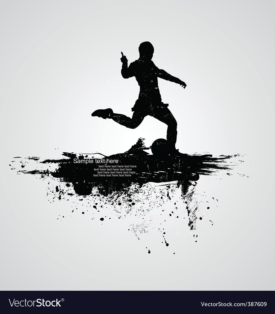Man running vector image