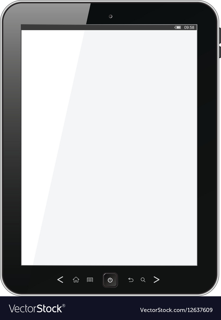 Modern portable touch pad device vector image