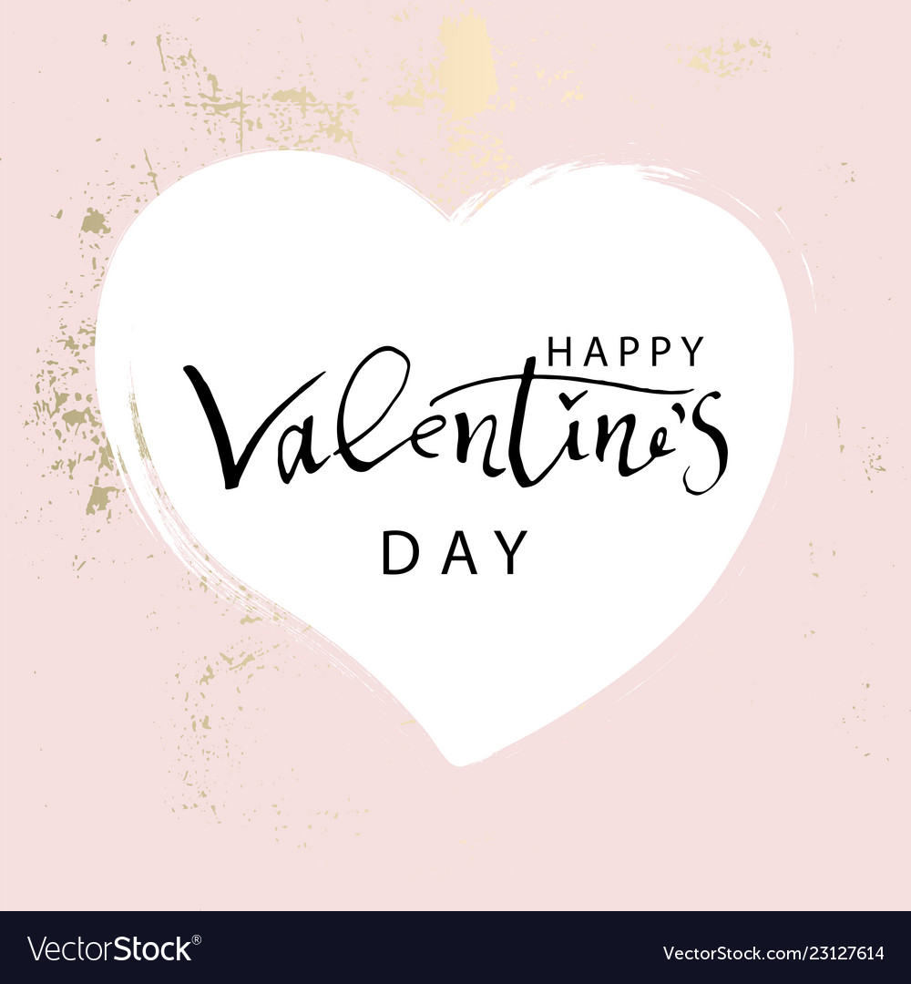 Abstract trendy chic happy valentine s day